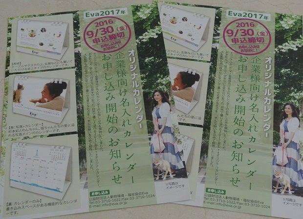 Eva オリジナルカレンダー申込み用紙2