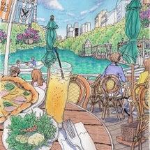 初夏のカナルカフェ