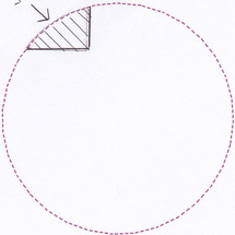円弧の先端の一部分の…