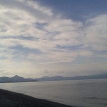沼津の浜でサーフトロ…