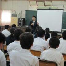 中学生に熱血講義!