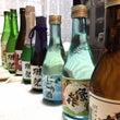 友人宅で日本酒飲み比…