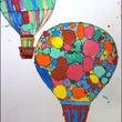 気球の模様をデザイン…