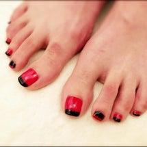 赤と黒の水平フレンチ…