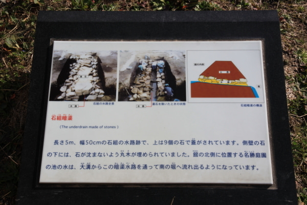 吉川元春館 暗渠説明