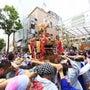 吉田町のお祭りを取材…