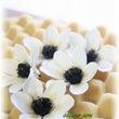 白いお花と青いお花と…