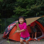 台風直前キャンプ