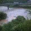 有田川ダム上 水出た…