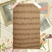 楽譜のこと。