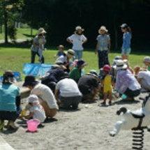 うさぎ山公園で砂遊び…