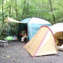 キャンプでビデオ撮っ…