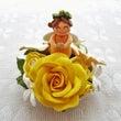 ねんど:黄色い花天使…