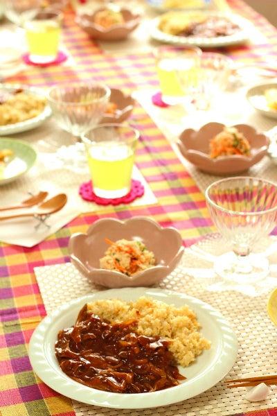柏オーガニック料理教室 洋食 テーブル