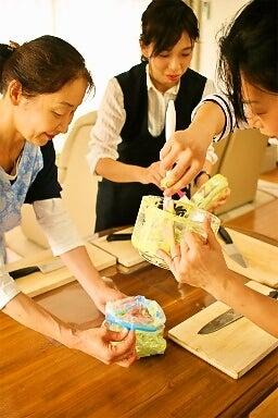 柏料理教室 手作りアイス ジップロック