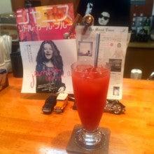 ROUND CAFE:赤いオレンジジュース