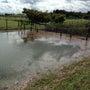 調節池へと水を逃がす…