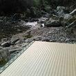 癒しを求めて川に 畳…