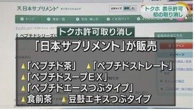 日本サプリメントのトクホ茶取り消し2