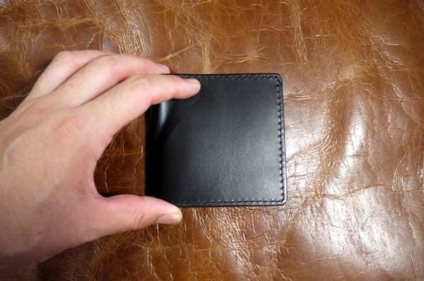 シンプルな折り財布(黒黄)岐阜県輪之内町A様1609-2