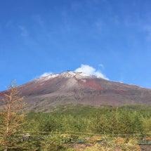 富士山初雪化粧宣言