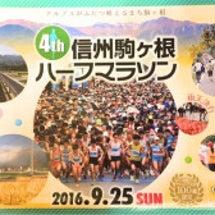 駒ヶ根ハーフマラソン…