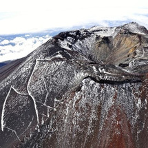 富士山 (うっすら)…