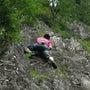 福井浄土山の黒岩でク…