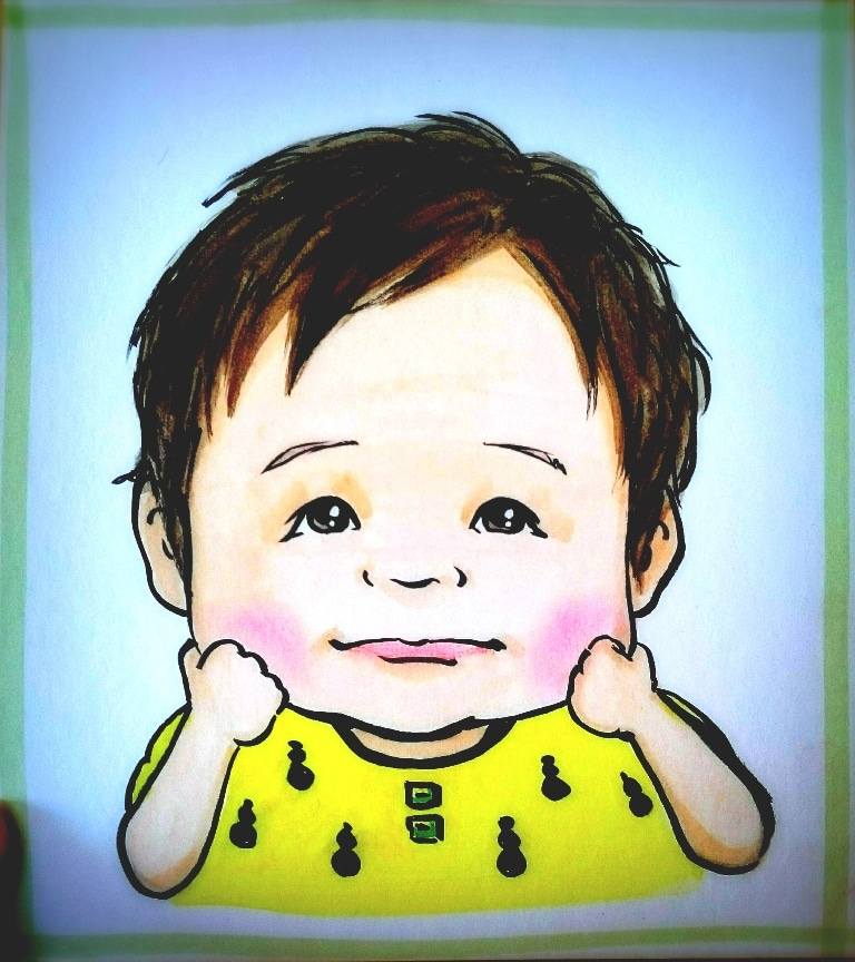子供の似顔絵