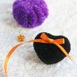 黒いハートと紫カボチ…