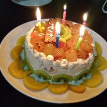 誕生日ケーキとパエリ…