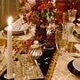 秋色のディナーテーブ…