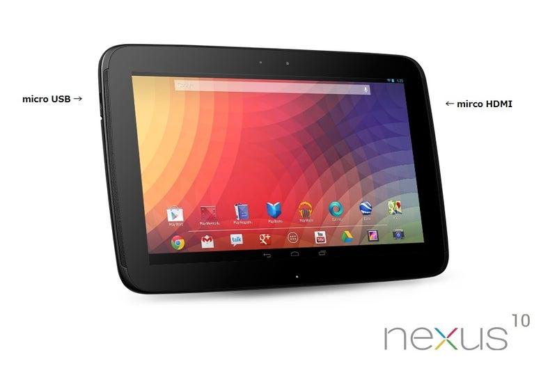 Nexus10 microHDMIの映像・音声の出力