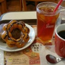 ミスドで朝食