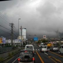 真っ黒な雲…