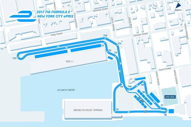 formula e new york city course