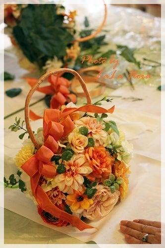 アーティフィシャルフラワーで作る秋色オレンジのバッグブーケレッスン