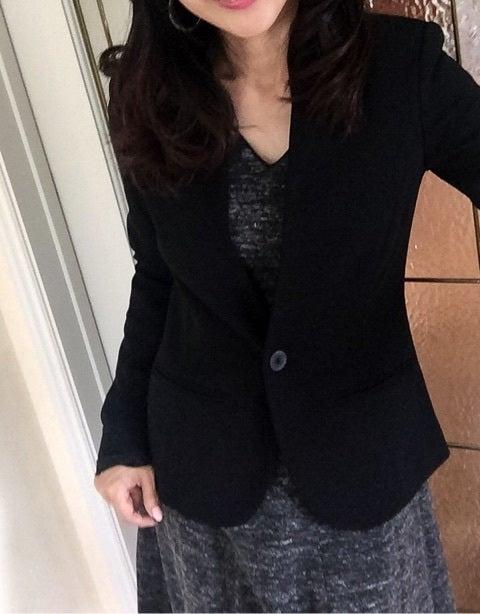 ノラガードナーNora Gardnerノーカラージャケット(ブレザー)黒