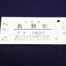 【硬券】長野電鉄・長…