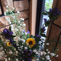 玄関のお花