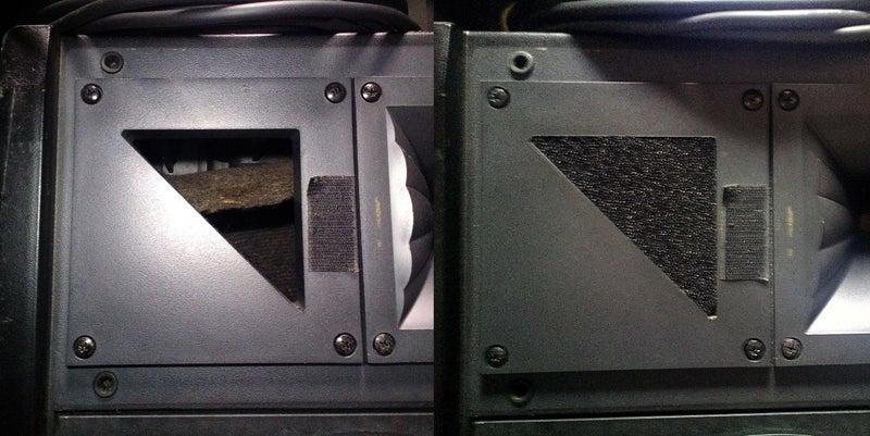 F-600SR バスレフ穴修復比較
