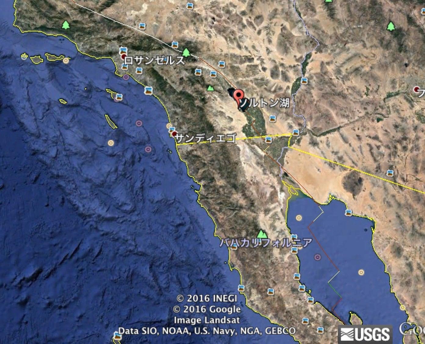 10月4日にカリフォルニア地震?