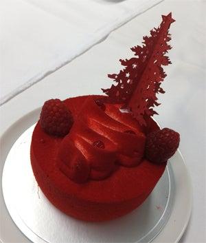 2016 クリスマスケーキ 赤