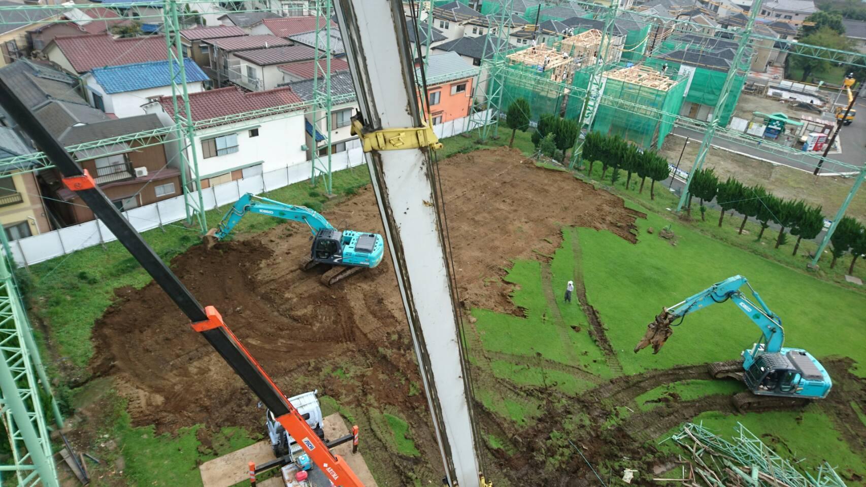 |2016年9月の振り返り| ゴルフ練習場の解体工事(株)ナイキ
