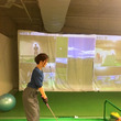 ゴルフの練習♪ ヘト…