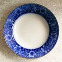 ■青染付 花文スープ…