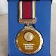 記念のメダル。