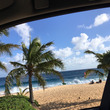 ハワイのビーチ 今日…