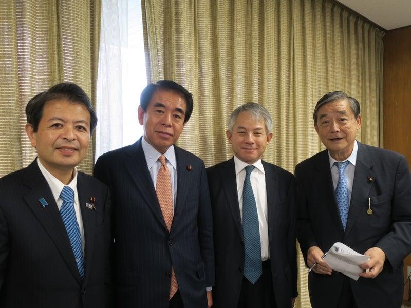 左から宮下一郎先生、下村博文先生、原丈人氏