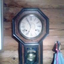柱時計が動いた